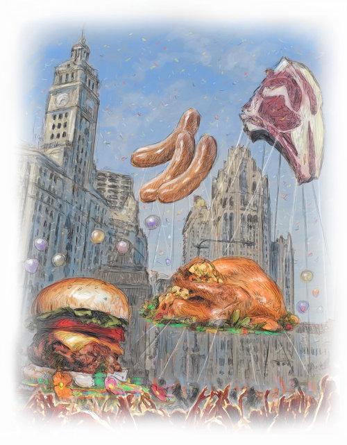 Globos de carne chicago gracias dando