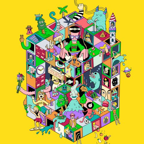 Fantastic illustration of isometric playground