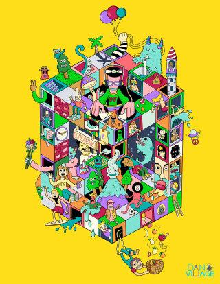 Fantastic illustration of isometric playground