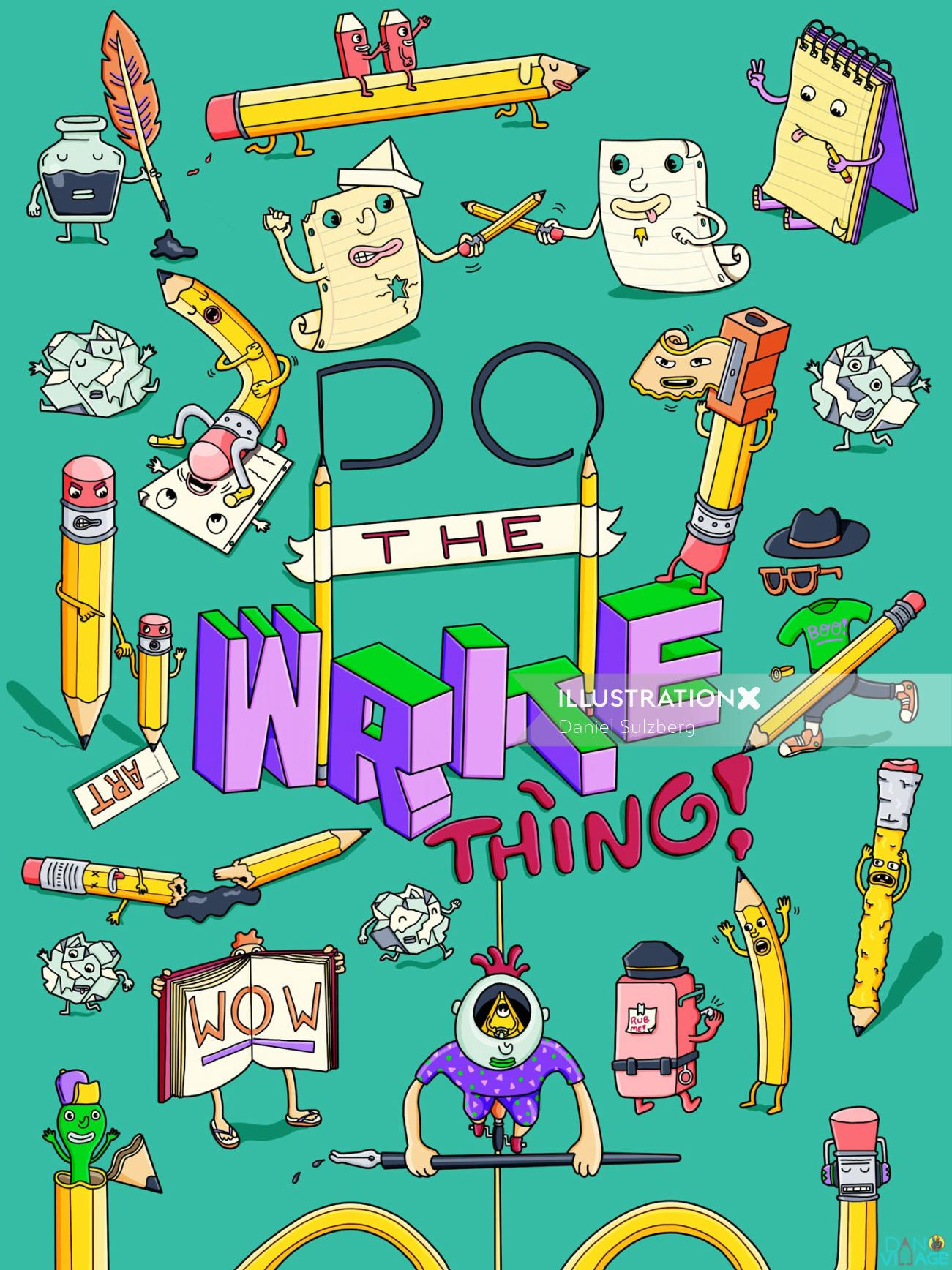 Do The Write Thing Notebook Cover Design