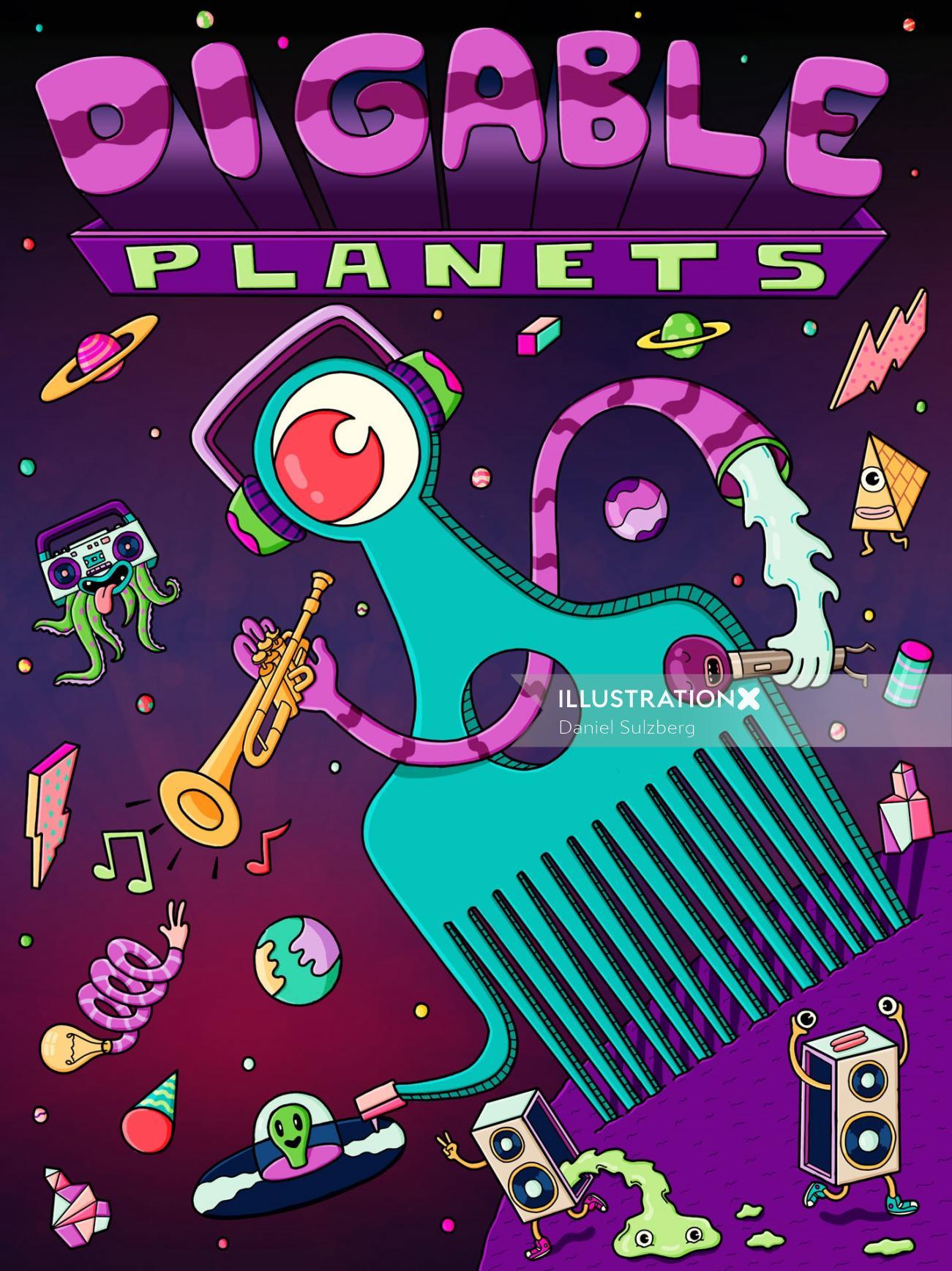Digable Planets Poster By Daniel Sulzberg Illustrator
