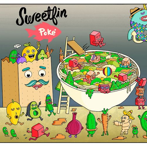 Food & Drink Illustration For Sweetfin Poke