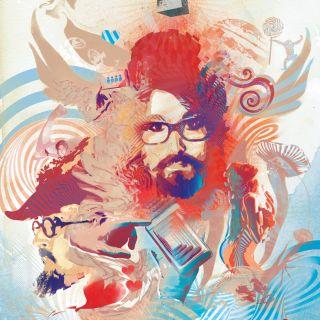 psychedelic, drugs, acid, trippy, trip, portrait, spray paint, face, lennon, music,