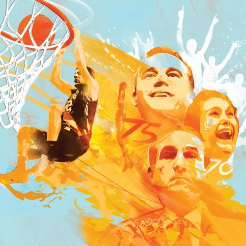 Leigh Basketball Team Sport & Fitness Poster