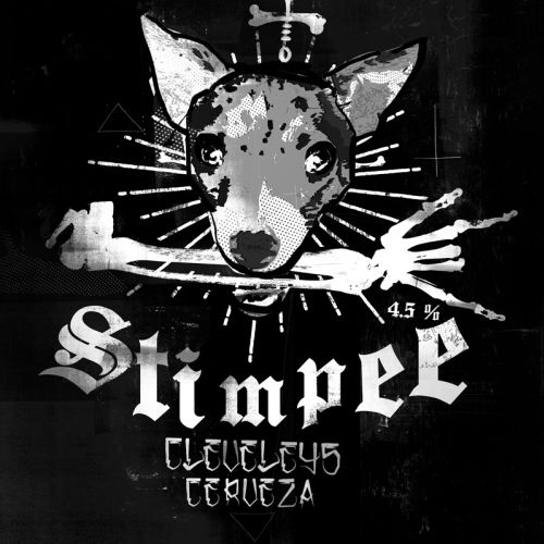 Advertising of Stimpee Mexican Beer Label