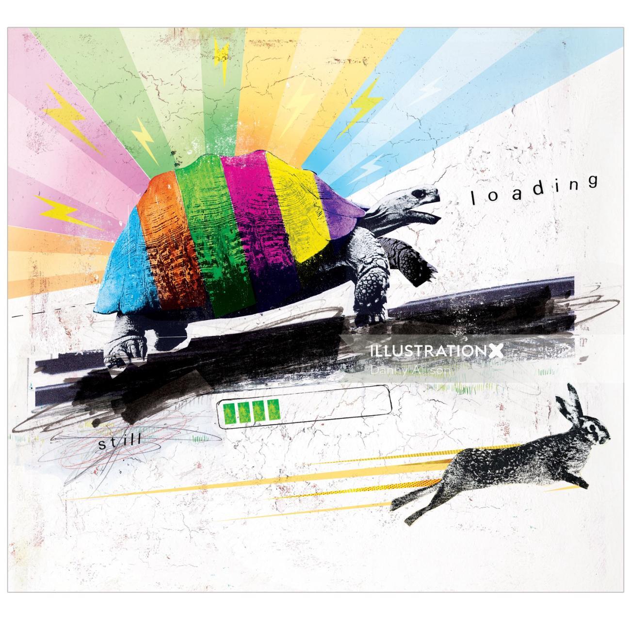 animals, tortoise, hare, rabbit, slow, fast, speed, technology, race, win, lose