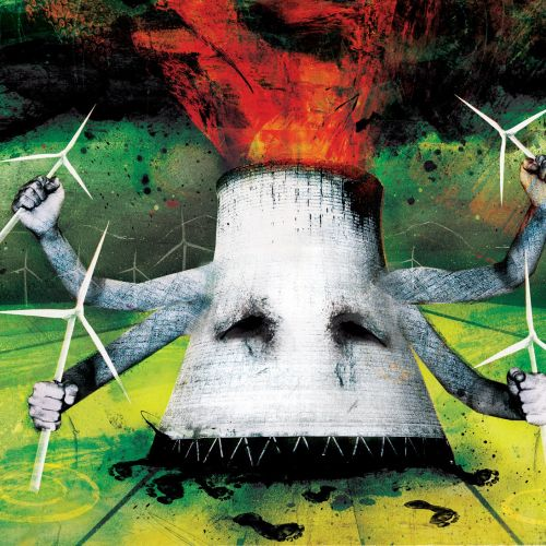 Fire in the tube, Green energy advantages, wind turbines in the hands