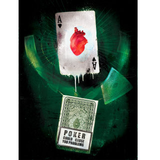 Playing cards set, Green Background, Rummy tournament