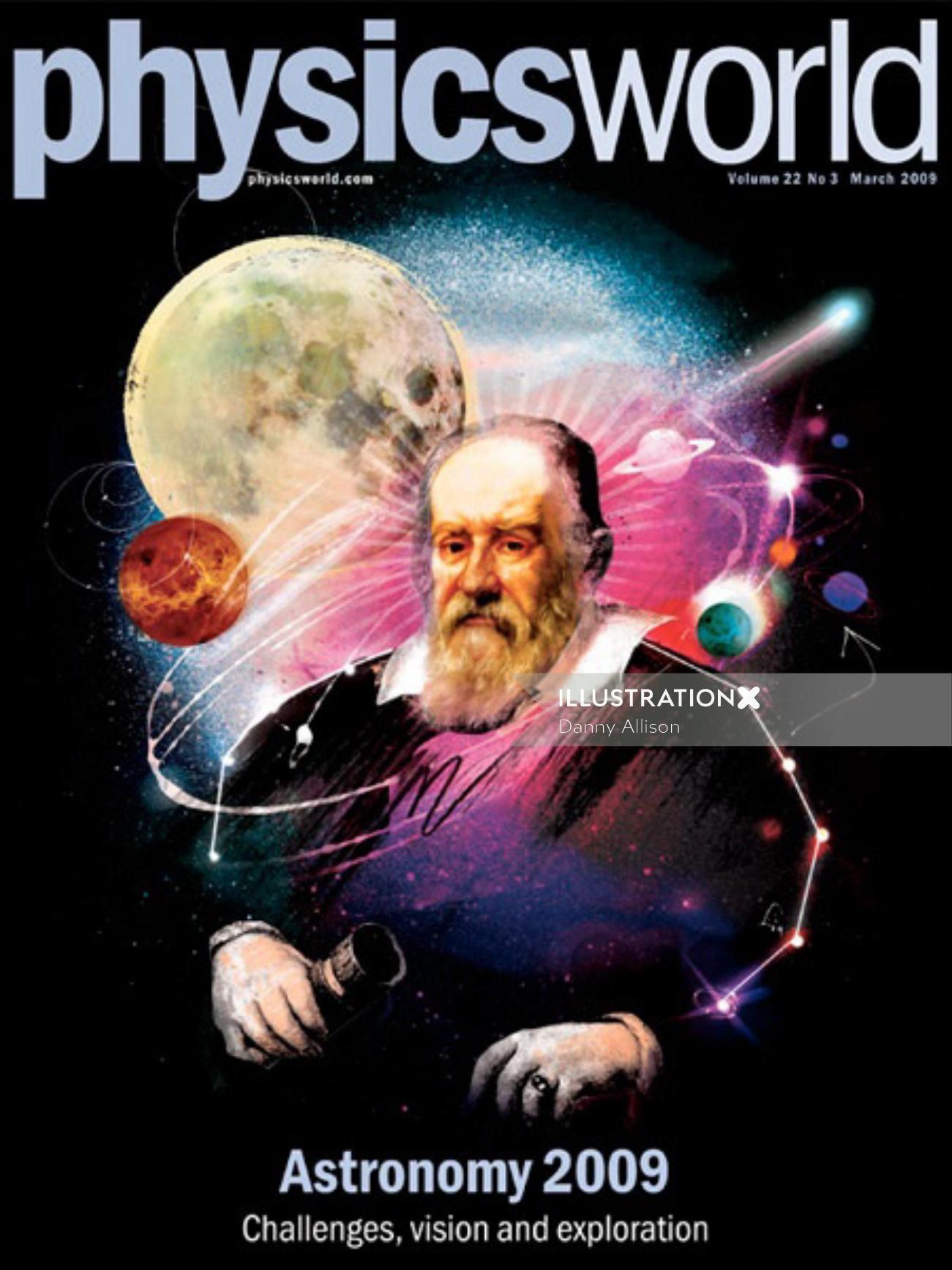 moon, planets, galileo, space, stars, portrait, astronomy, astronomer, galaxy,