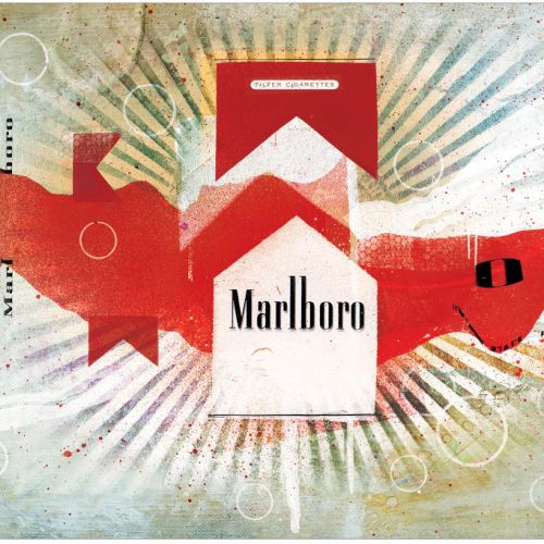 packaging marlboro ecigs cigs cigarette  smokes packet marlboro lights reds