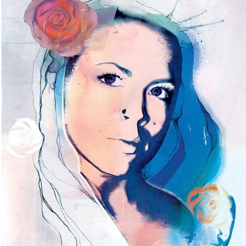 woman, fashion, fashion illustration, beauty, beautiful, advertising, rose, young