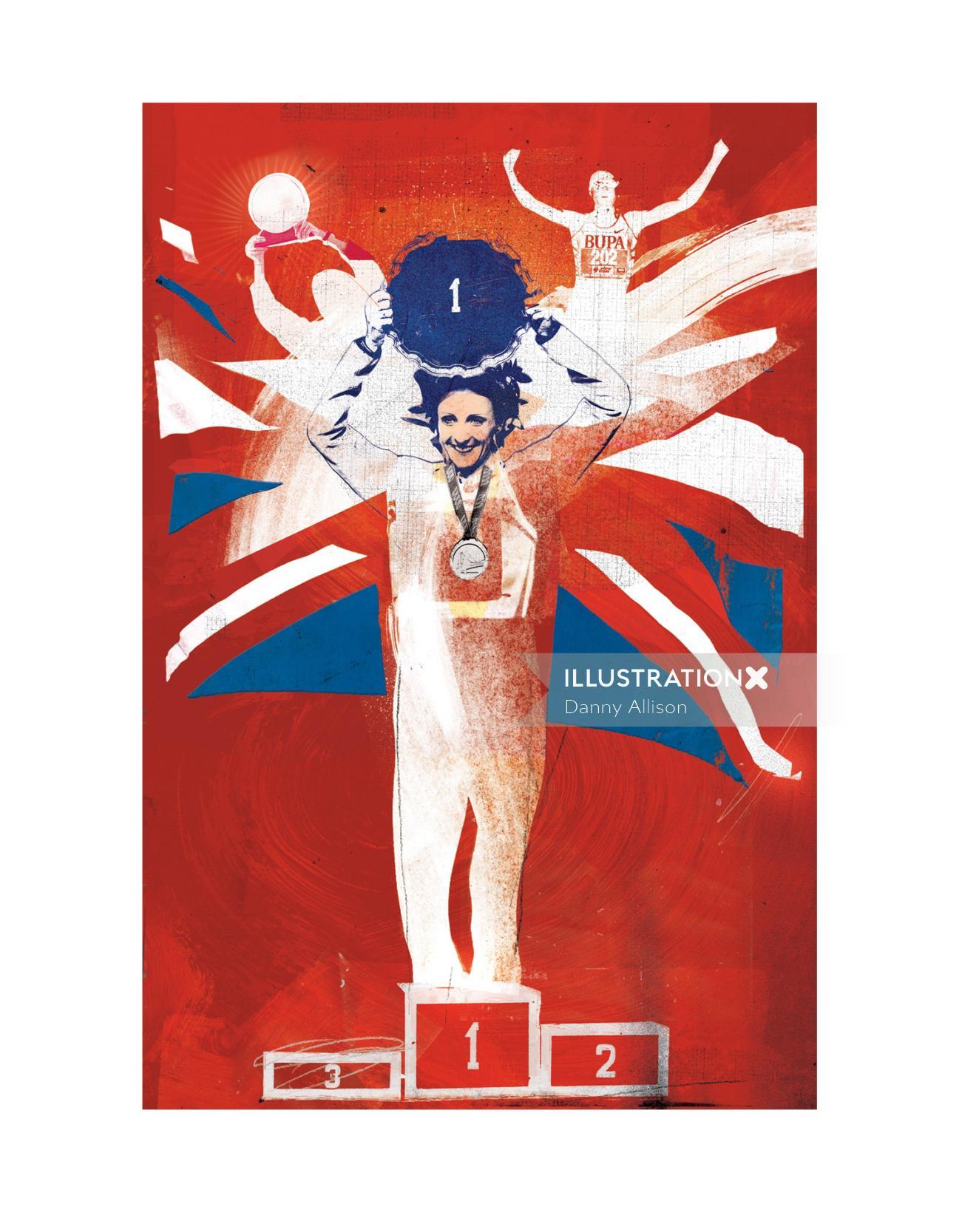 running, win, olympics, sports, sport, sporty, flag, uk , britain,