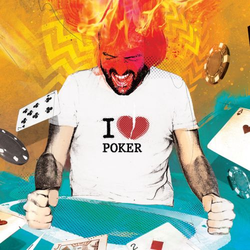 poker, cards, gamble, gambling, gambler, angry, frustrated, down, stressed,
