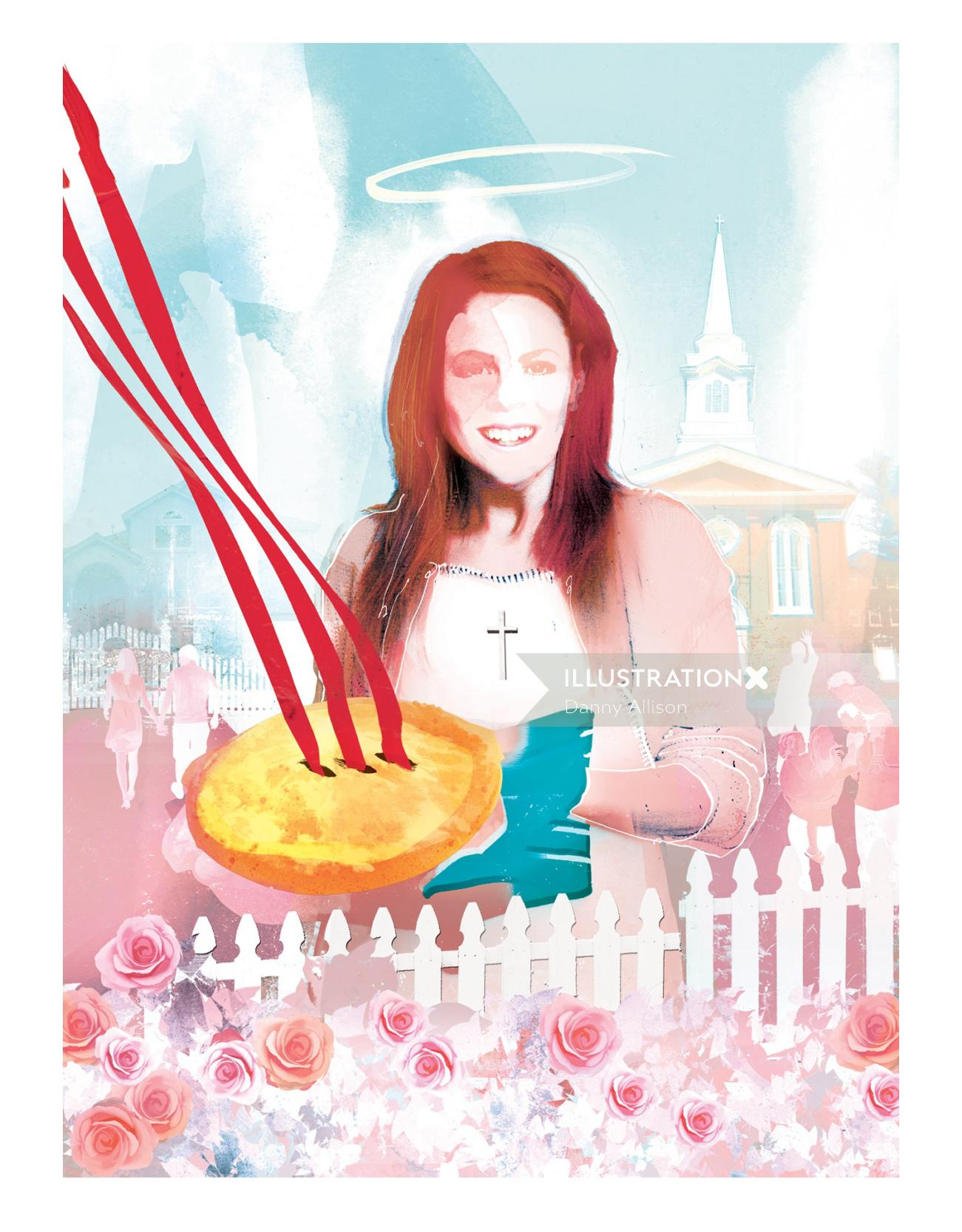 usa flag eagle stepford wives desperate houswives pie church christian picket fence rose religios