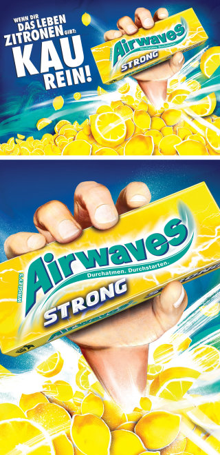 packaging food lemons fruit gum advertsing billboard sugarfree chewing gum consumer Danny Allison