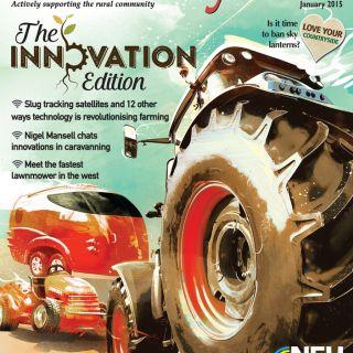 countryside tractor vehicle honda environmental farm farmland illustration