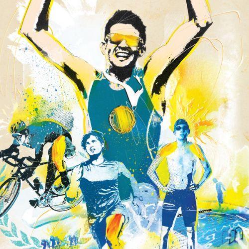 Sport triathalon illustration by Danny Allison