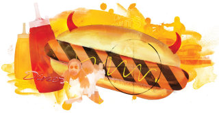 fast food hot dog ketchup saturated fat unhealthy mcdonalds burger king