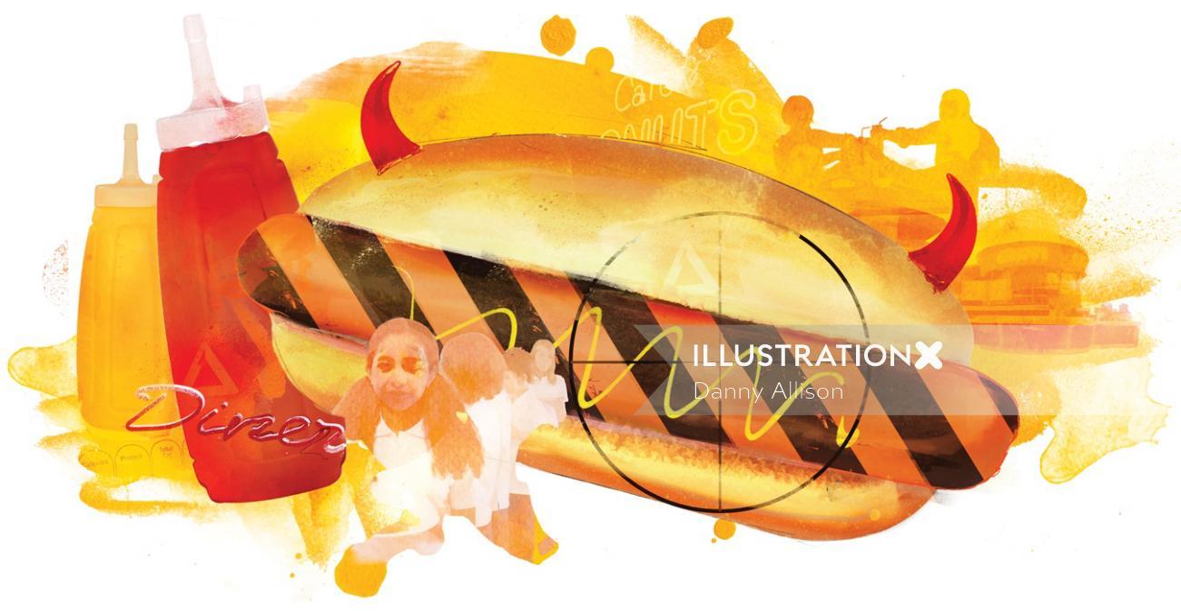 fast food hot dog ketchup saturated fat unhealthy mcdonalds burger king