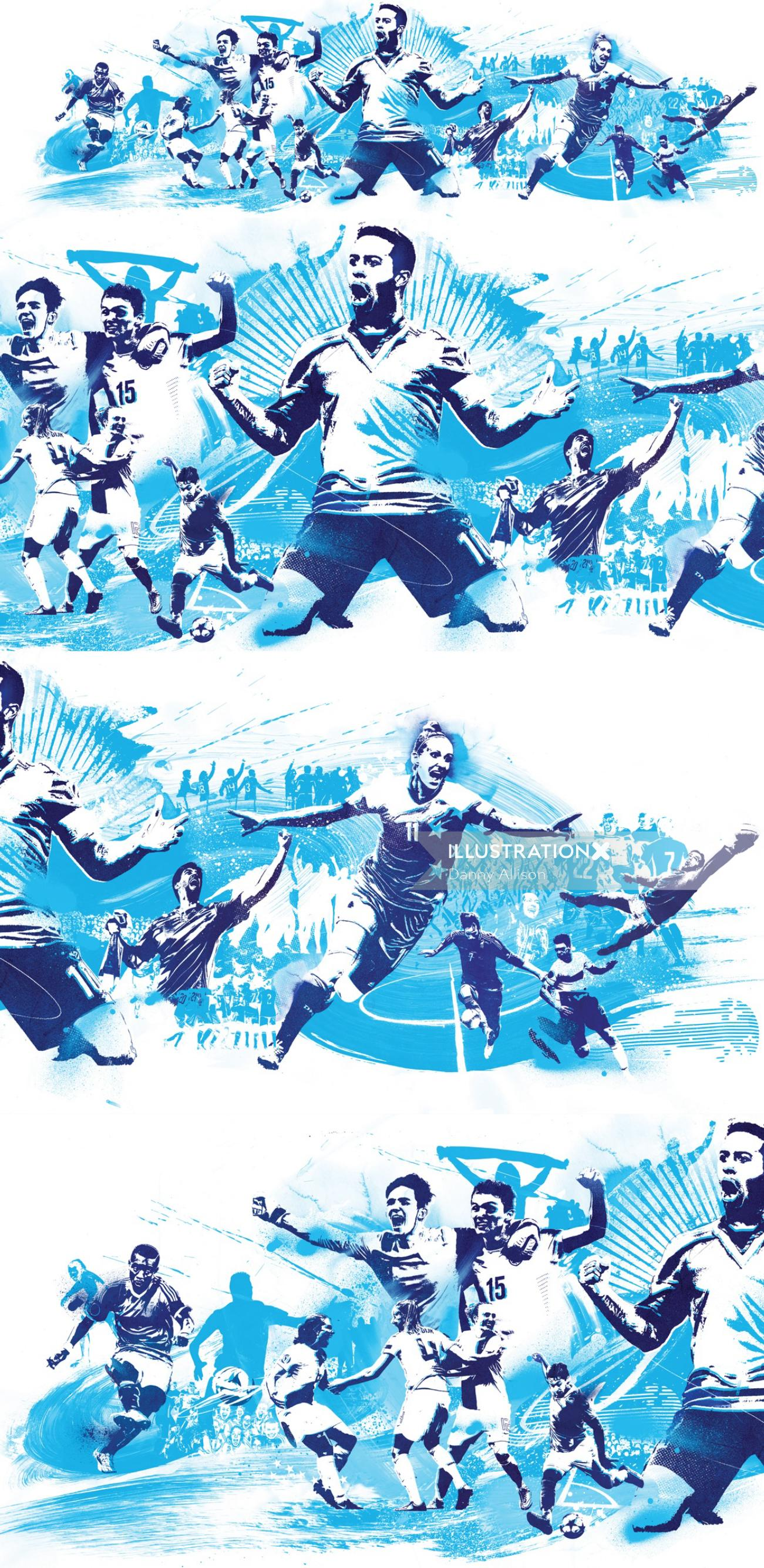 score shoot penalty football uefa vienna goal soccer score celebrate world cup illustration