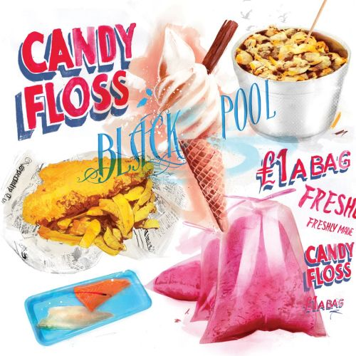 food, candy, sweets, ice cream, fast food, junk food, fish, chips, floss, cockles, hungry