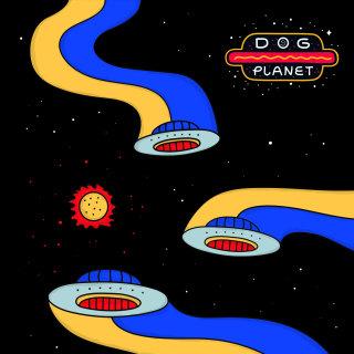 fly,spaceship,alien,star,planet,sun,retro,scifi,cintage,pop