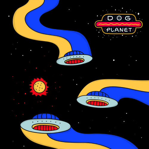 Dog Planet Hot-Dog Brand poster design by Darruda