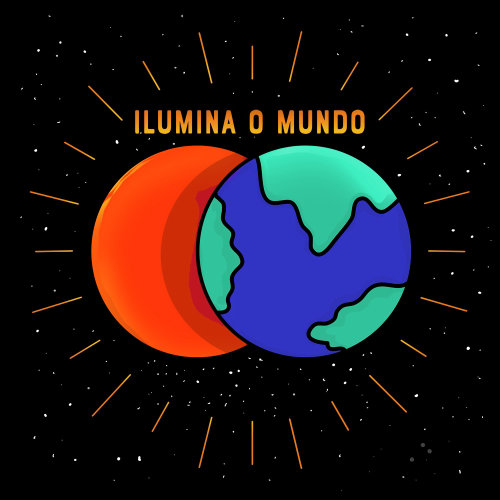 Music band Cover design for Ilumina O Mundo