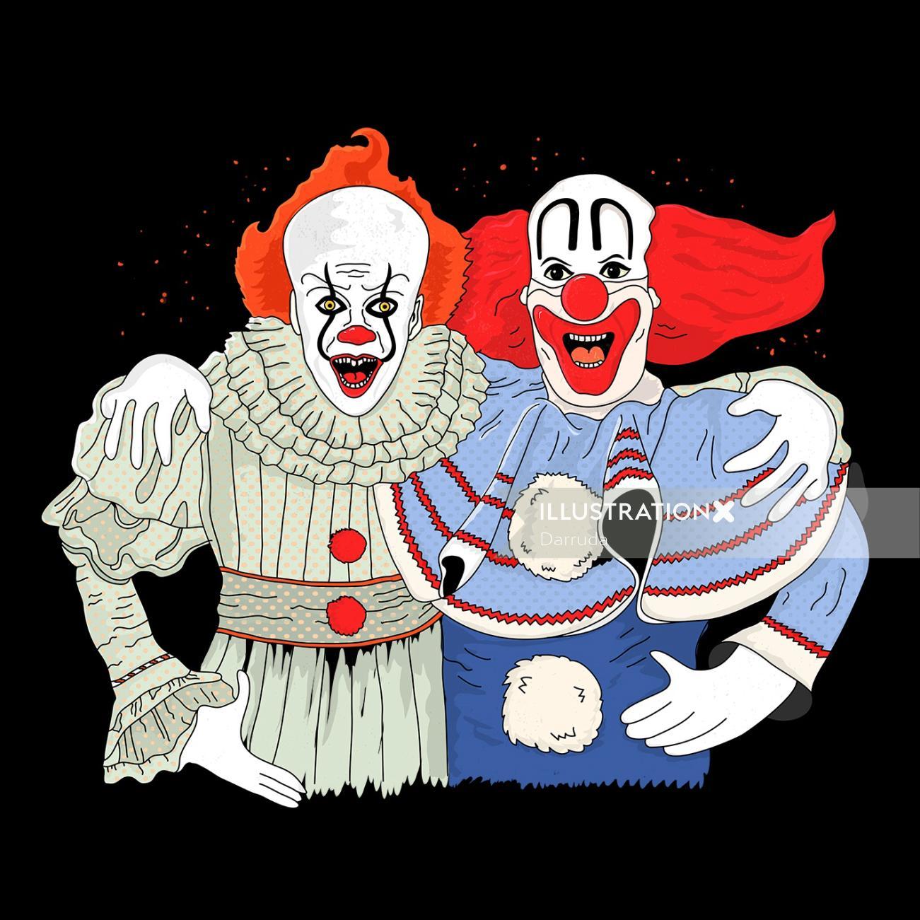 Comic art of jokers by Darruda