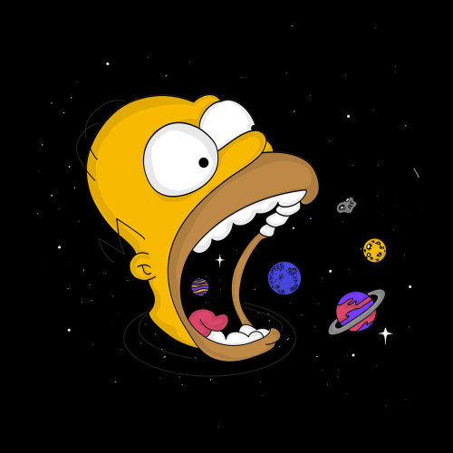 Cartoon & Humour simpson swallowing planets