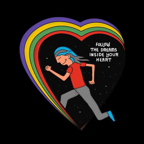 Graphique Suivez les rêves à l'intérieur de votre cœur