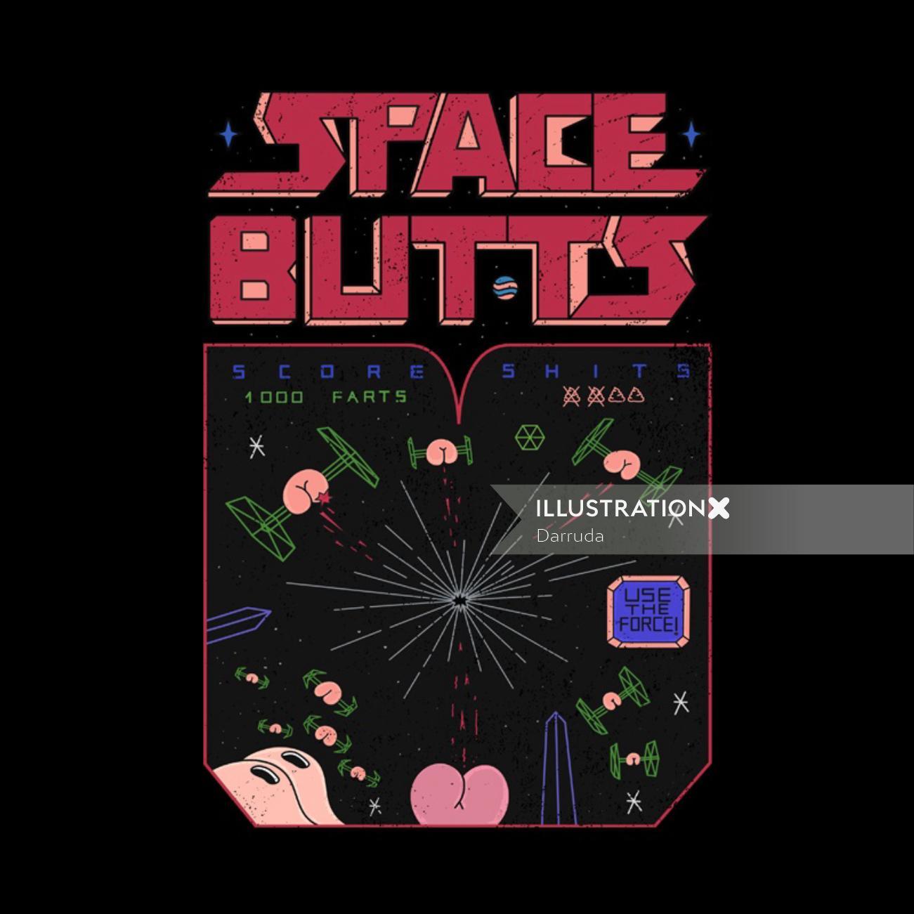 Space battle cover design by Darruda