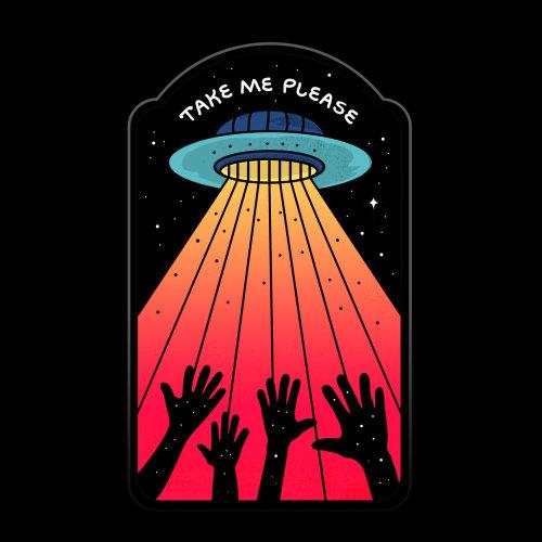 Graphic alien ship take me please