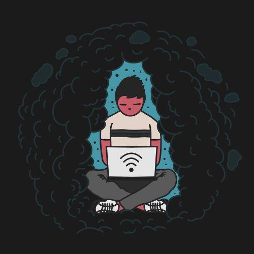 Lifestyle illustration of employee