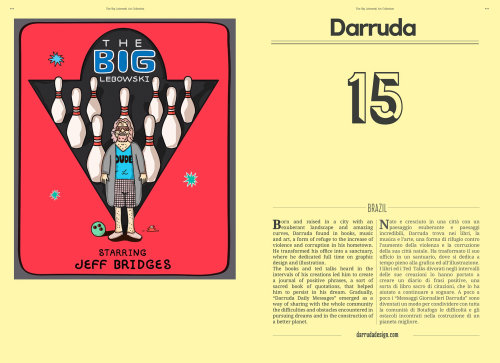 Ilustración editorial de The Big Lebowski