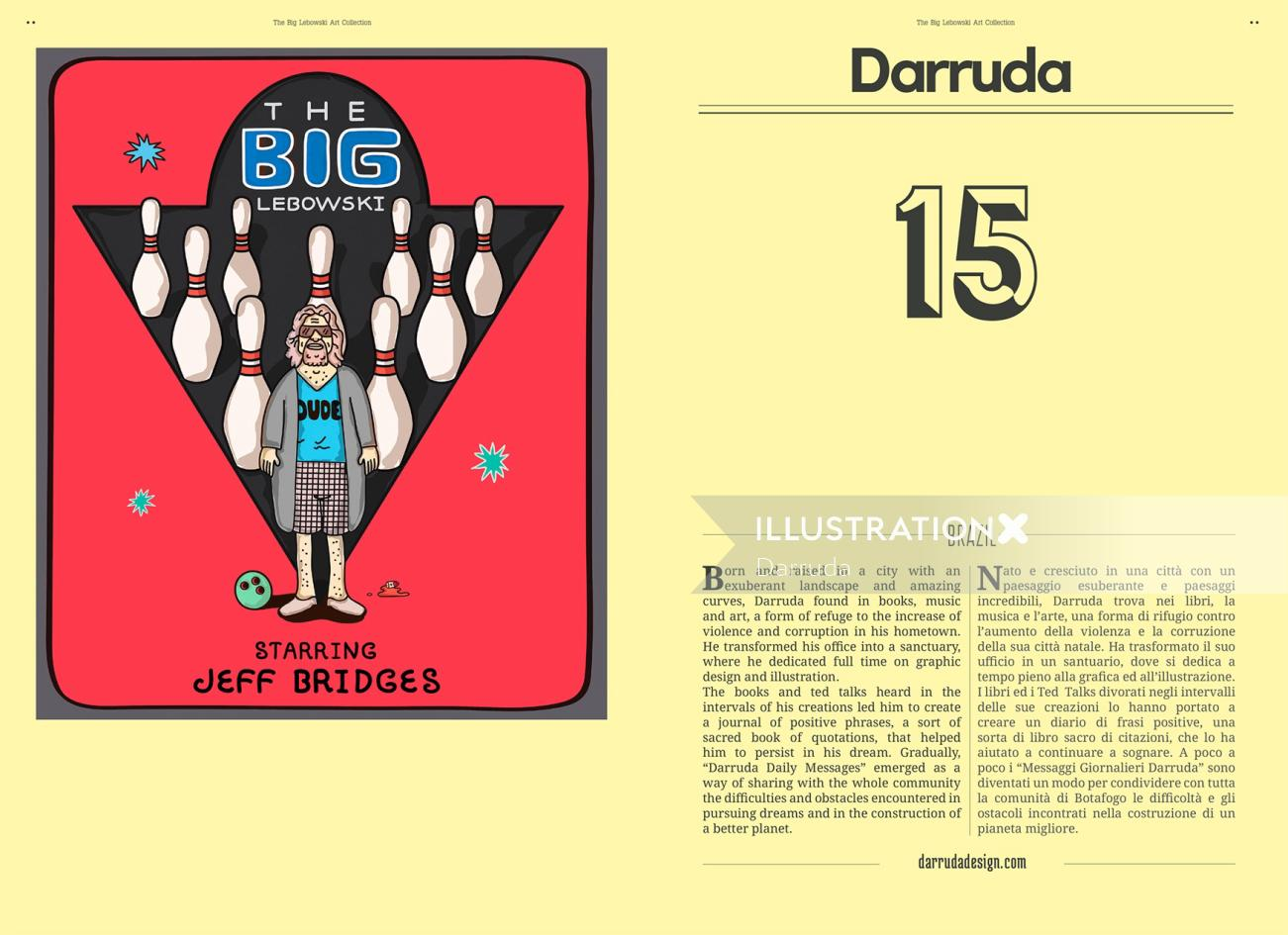 Editorial illustration of The Big Lebowski