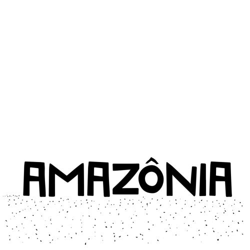 Hand lettering of Amazonia
