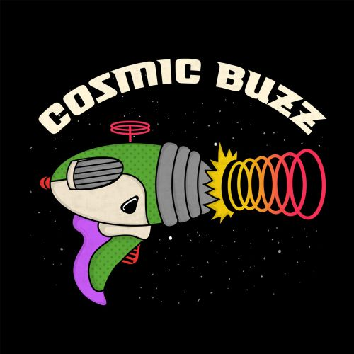 Graphic design Cosmic buzz gun