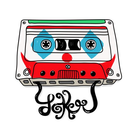 Graphic illustration of music cassette