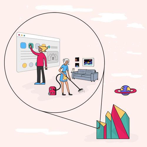 Services Web numériques de la maison de nettoyage