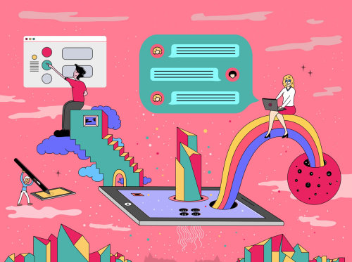 Digital virtual work room