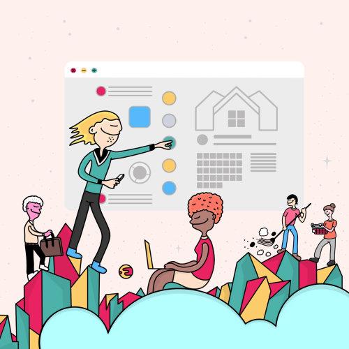 Digital illustration of web services