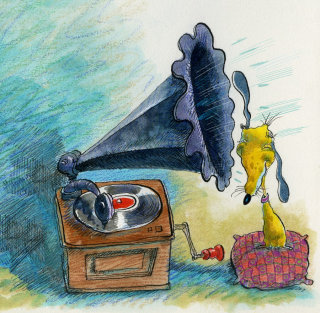 Illustraton of gramaphone
