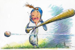 Illustration of baseballl player