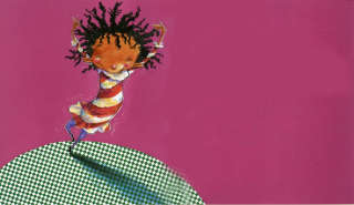 Children illustration of a dancing girl