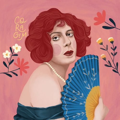 Portrait illustration of Lili Elbe
