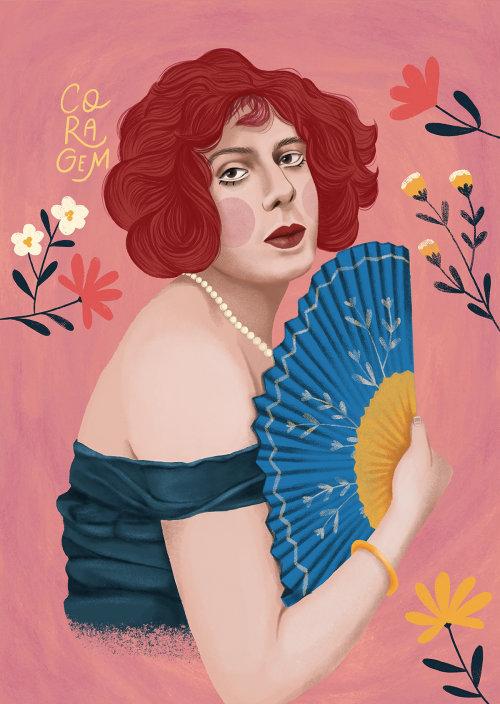莉莉·易北河的肖像插图