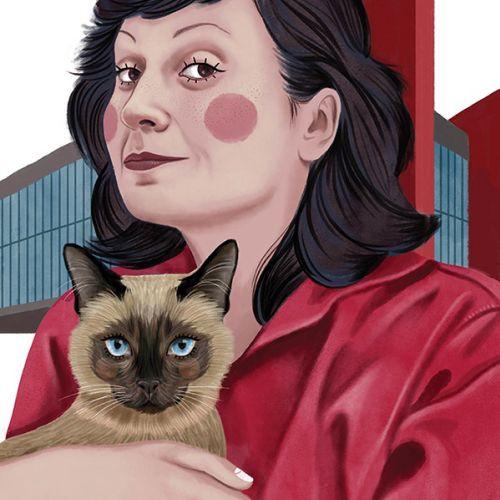 Lina Bo Bardi portrait illustration