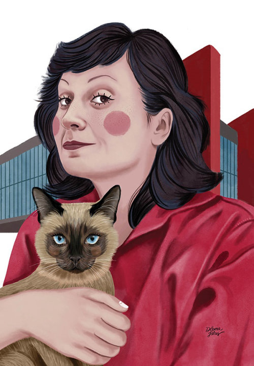 Lina Bo Bardi portrait illustration