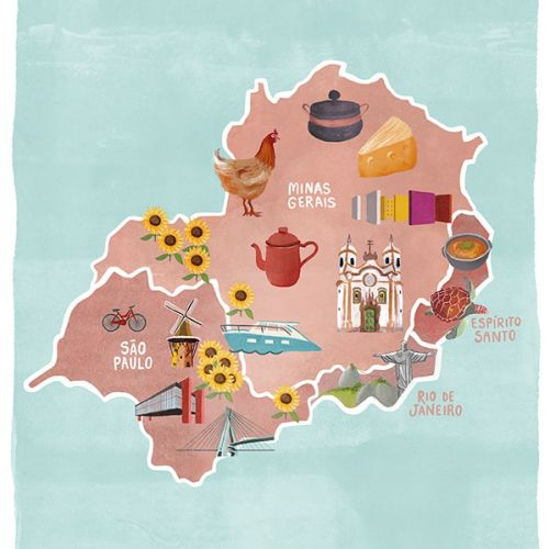 Debora Islas Maps Illustrator from Brazil